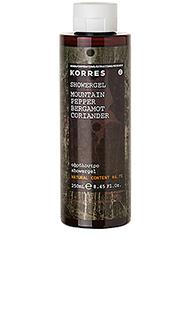 Гель для душа mountain pepper - Korres