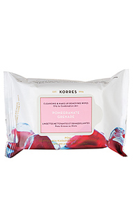 Влажные салфетки для лица pomegranate - Korres
