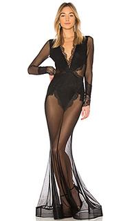 Платье макси из прозрачного кружева martin - Michael Costello