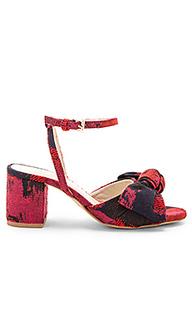 Туфли на каблуке с открытым носком carmine - RAYE