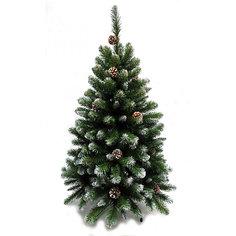 """Искусственная елка Triumph Tree """"Императрица. С шишками, заснеженная"""", 120 см (белая, зеленая)"""