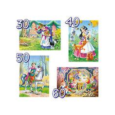 """Пазл 4 в 1 Castorland """"Белосгежка и 7 гномов"""", 30/40/50/60 деталей"""