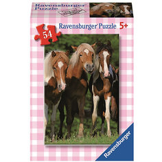 Минипазл «Лошади» 54 элемента    45 шт в дисплее # Ravensburger