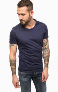 Синяя футболка из хлопка Gaudi