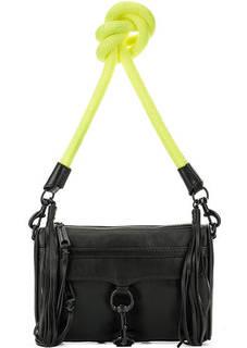 Черная сумка с контрастным плечевым ремнем Rebecca Minkoff