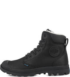Черные кожаные ботинки на шнуровке Palladium