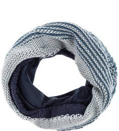 Синий вязаный шарф-хомут Buff