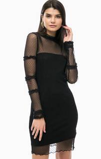 Черное платье со съемной подкладкой Liu Jo