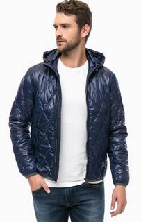 Синяя куртка со съемным капюшоном на молнии Replay