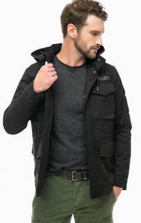 Куртка с нашивками и скрытым капюшоном Replay