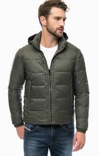 Куртка цвета хаки со скрытым капюшоном Replay