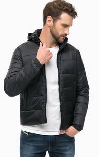 Черная куртка со скрытым капюшоном Replay