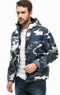 Куртка с камуфляжным принтом и капюшоном Replay