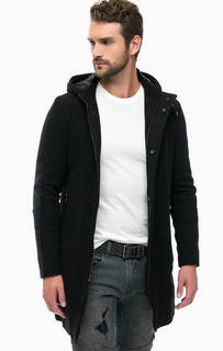 Шерстяное пальто с капюшоном Replay