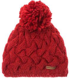Красная шапка с текстильным помпоном Canadian