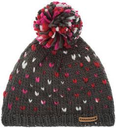 Серая шапка с текстильным помпоном Canadian