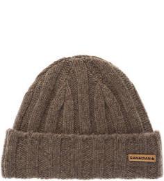 Коричневая шерстяная шапка Canadian