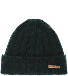 Зеленая шерстяная шапка Canadian