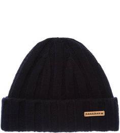 Синяя шерстяная шапка Canadian