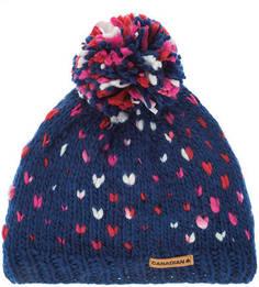 Синяя шапка с текстильным помпоном Canadian