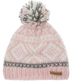 Розовая шапка с текстильным помпоном Canadian