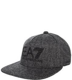 Шерстяная бейсболка с вышивкой EA7