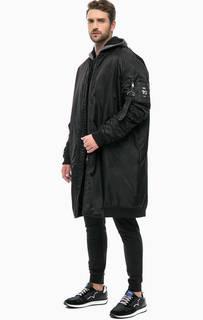 Удлиненная куртка с вышивкой на спине EA7