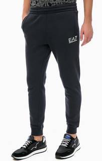 Синие брюки с манжетами EA7