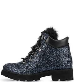 Блестящие ботинки на толстой подошве Steve Madden