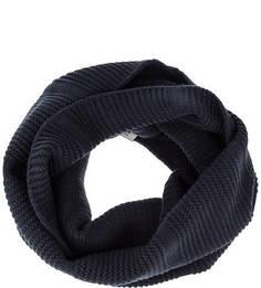 Синий вязаный шарф-хомут Selected
