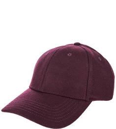 Фиолетовая шерстяная бейсболка Selected