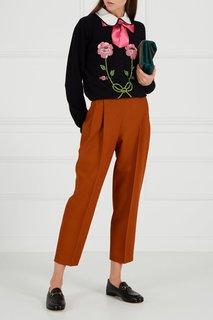 Декорированный джемпер из шерсти и кашемира Gucci