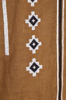 Льняная блузка цвета хаки Croatia Vita Kin