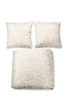 Комплект 2 подушки декоративные и 1 покрывало Togas