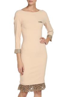 Прилегающее платье с отделкой кружевом Cristina Effe