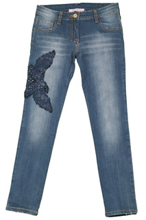 JEANS W/EMBROIDERY Miss Blumarine