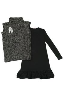 TURTLE NECK SWEATER +DRESS Miss Blumarine