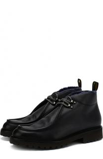 Высокие кожаные ботинки с внутренней меховой отделкой Doucals