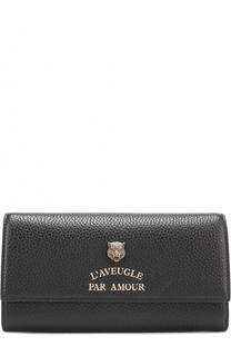 Кожаный кошелек с декором Gucci