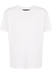 Хлопковая футболка с круглым вырезом Alexander Terekhov