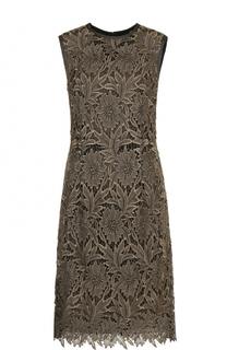Приталенное кружевное платье-миди Escada