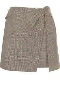 Шерстяная мини-юбка с драпировкой Rag&Bone Rag&Bone