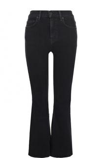 Укороченные расклешенные джинсы с потертостями Proenza Schouler