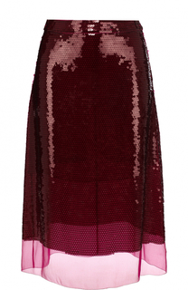 Шелковая юбка-миди с пайетками Stella McCartney
