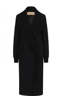 Кашемировое двубортное пальто Burberry