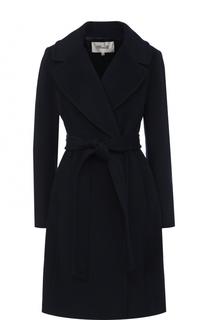 Однотонное шерстяное пальто с поясом Diane Von Furstenberg