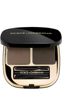 Набор теней для коррекции бровей, оттенок 2 Natural Brunette Dolce & Gabbana