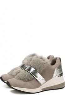 Комбинированные кроссовки Maven с  отделкой из меха кролика MICHAEL Michael Kors