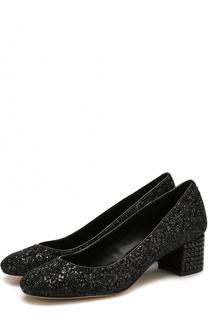 Туфли Arabella с глиттером на декорированном каблуке MICHAEL Michael Kors