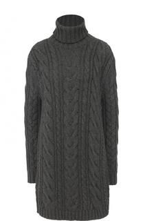 Удлиненный кашемировый свитер фактурной вязки Dolce & Gabbana